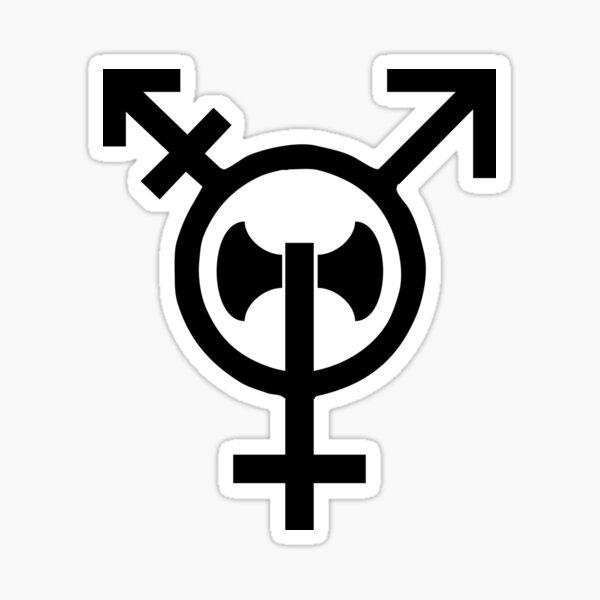 Transbian Transgender Lesbian Labrys Sticker