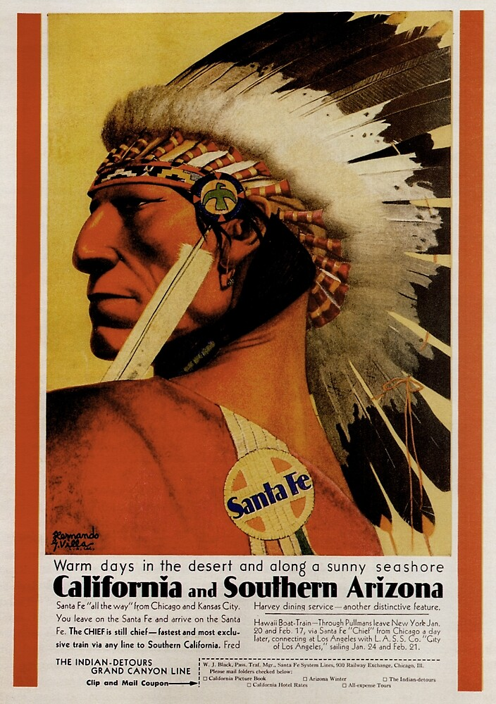 Vintage poster - California and Southern Arizona by mosfunky