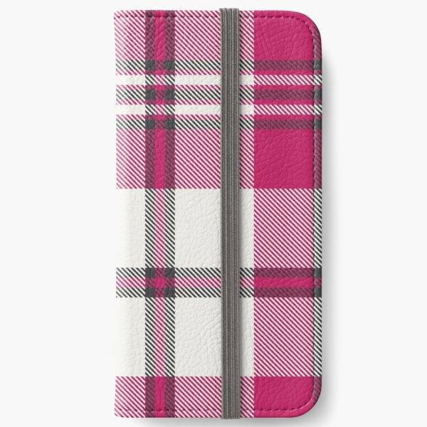 Tartan Rose iPhone Wallet