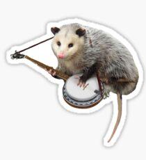 Possum Playing Banjo Sticker