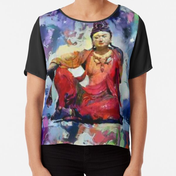 "The Goddess of Compassion- ""Kuan Yin""  Chiffon Top"