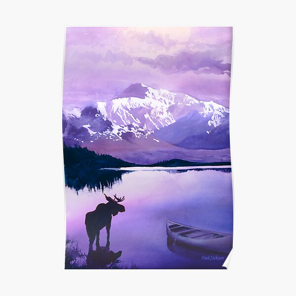 """Purple Majesty"" Watercolor Poster"
