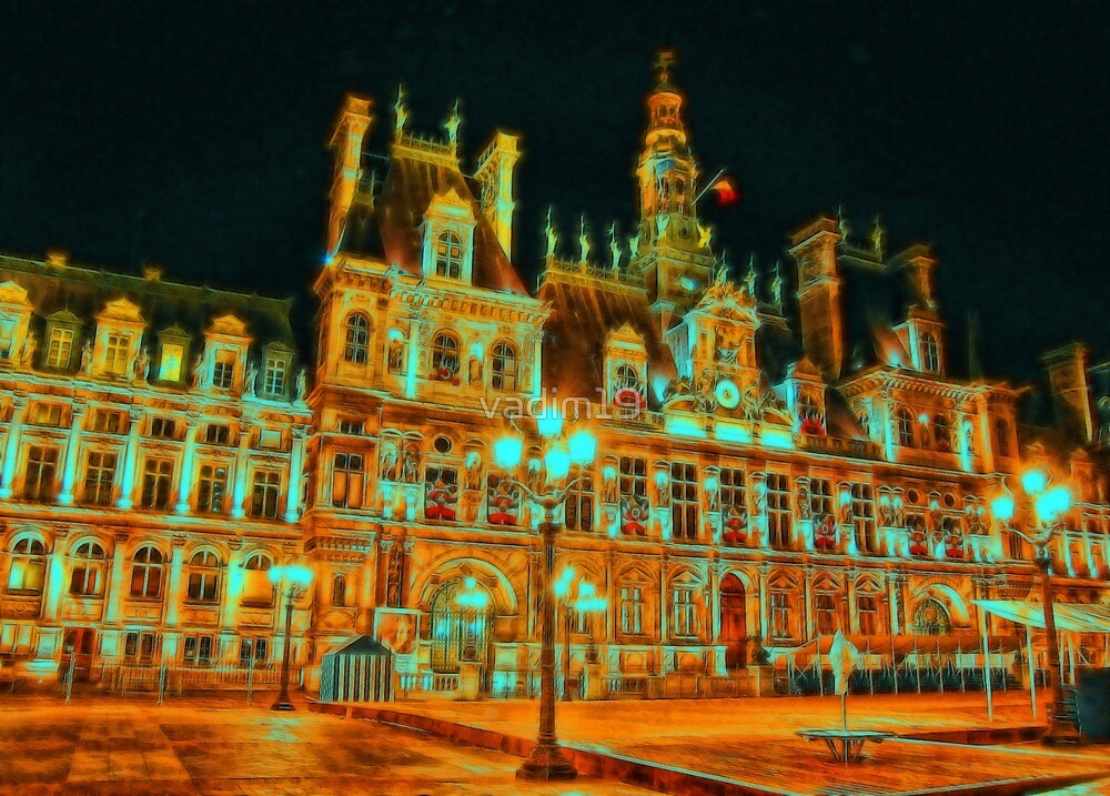 Hôtel de Ville, Paris, France by vadim19