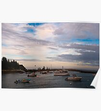 Dusk at Cape Harbor Poster