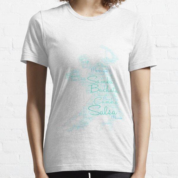 Dancing Word Art Couple Bachata  Salsa Essential T-Shirt