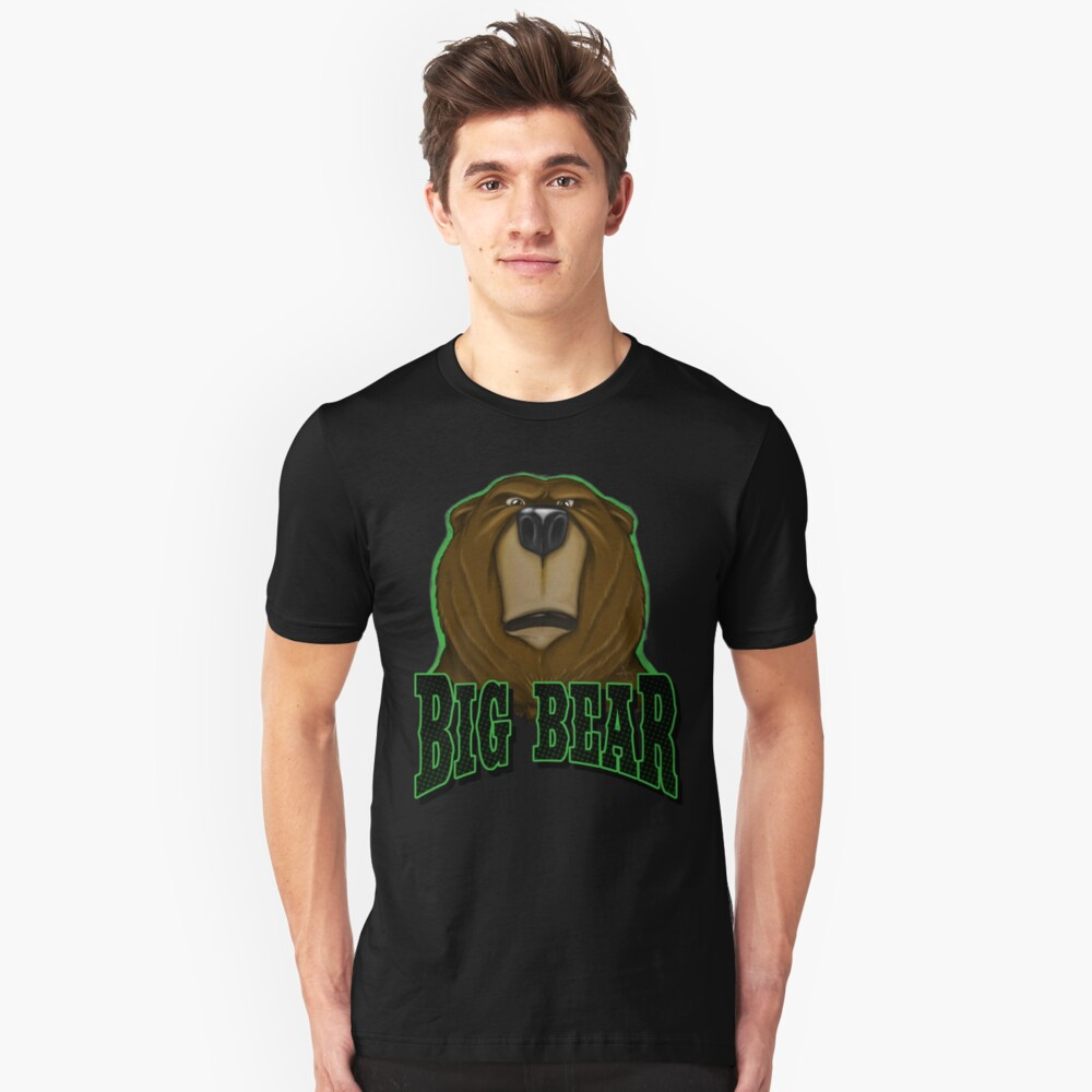 Big Bear  This is my happy face Unisex T-Shirt Front