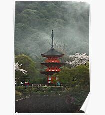 Pagoda In The Mist Poster
