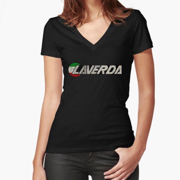Laverda Klassiker Tailliertes T-Shirt mit V-Ausschnitt