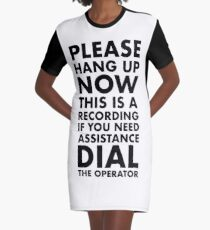 Please Hang Up Graphic T-Shirt Dress
