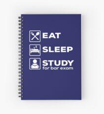 Bar Exam Eat Sleep Study  Spiral Notebook