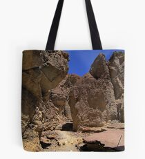 Golden Canyon - remains of a paved road Tote Bag