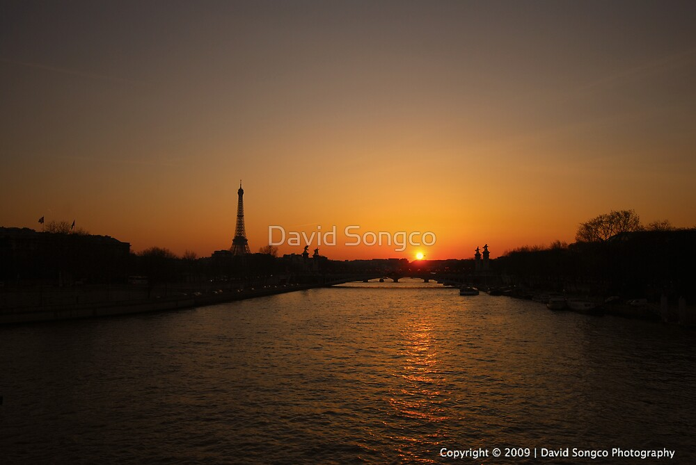 Sunset over the River Seine by David Songco