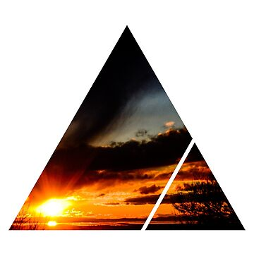 Sunset Triangle Design by Divine-Symbols