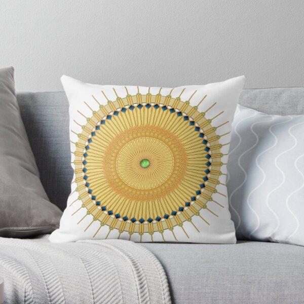 Art Deco Sunburst Throw Pillow