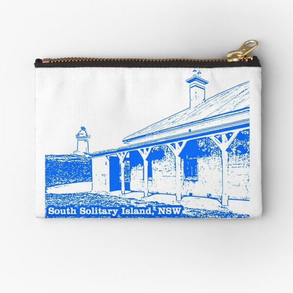 Lighthouse & Quarters - South Solitary Island Zipper Pouch