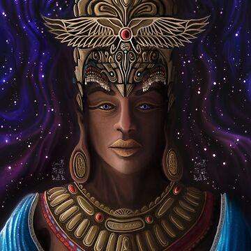 Hathorisis | A High Priestess of Horus   by DanJohnDesign