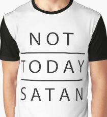 Not today satan t-shirt, white t-shirt Graphic T-Shirt