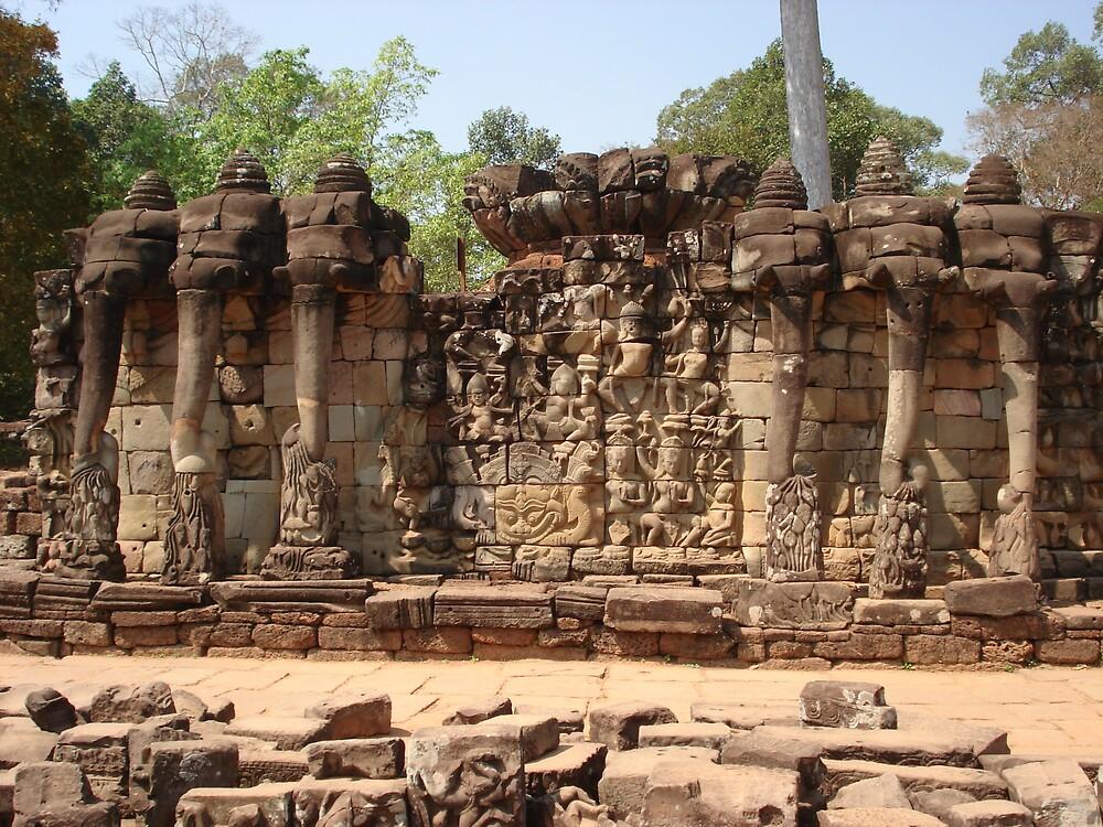 Elephants at Angkor Wat by Rena77uk
