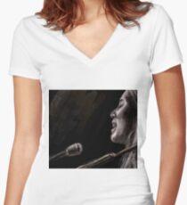 Joni Women's Fitted V-Neck T-Shirt