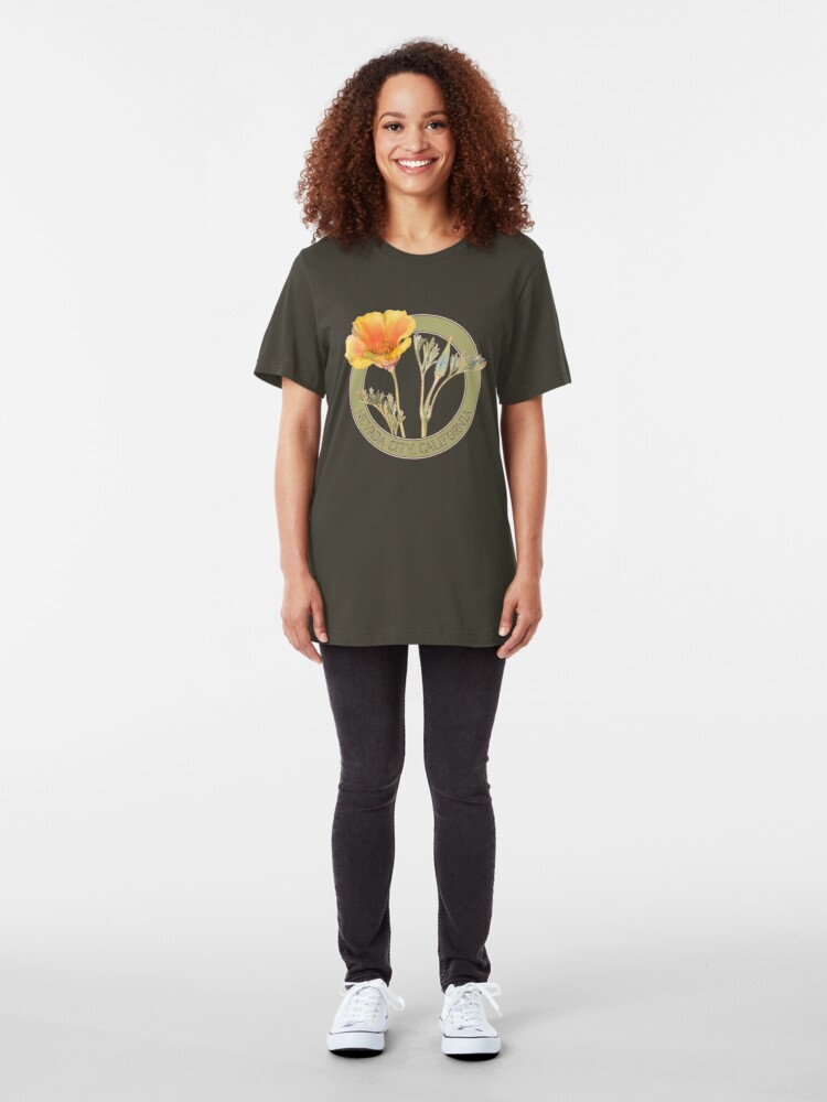 Alternate view of Nevada City Poppy Slim Fit T-Shirt