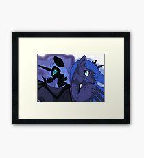 Princess Luna & Nightmare Moon Framed Print