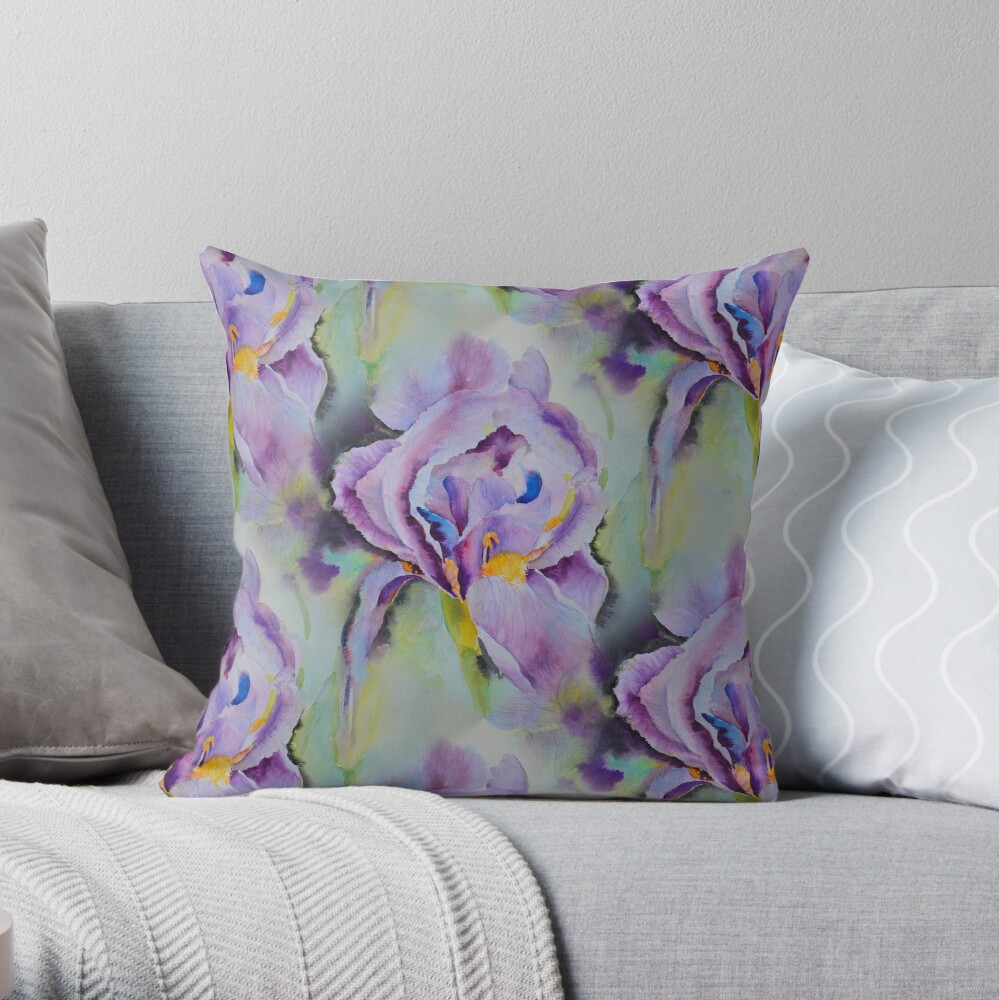 The purples Throw Pillow