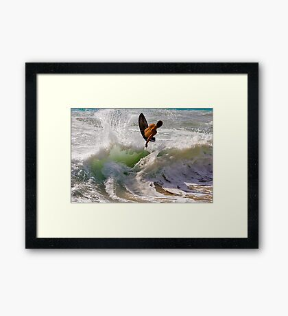 Launched Framed Print