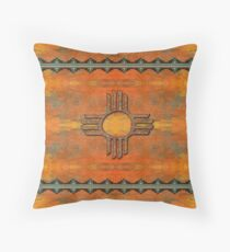 Ancient New Mexico Zia Throw Pillow