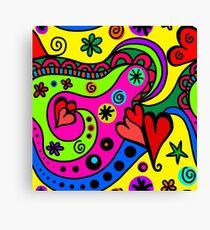 Colourful modern doodle Canvas Print