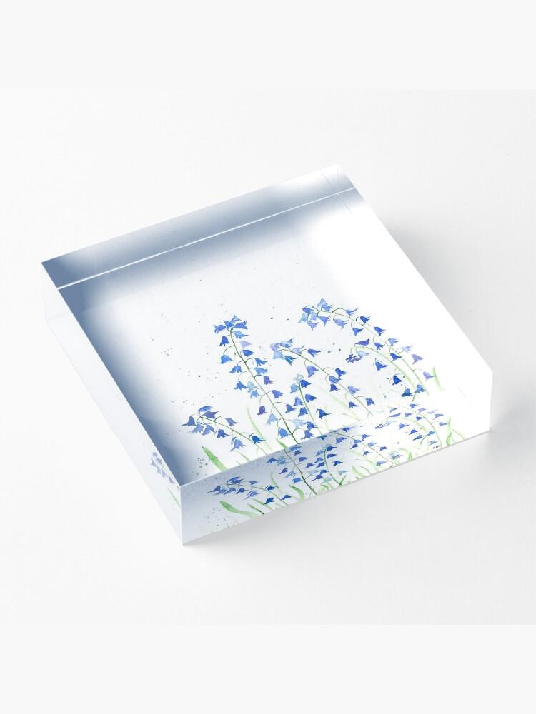 Alternate view of Bluebells flowers watercolours Acrylic Block