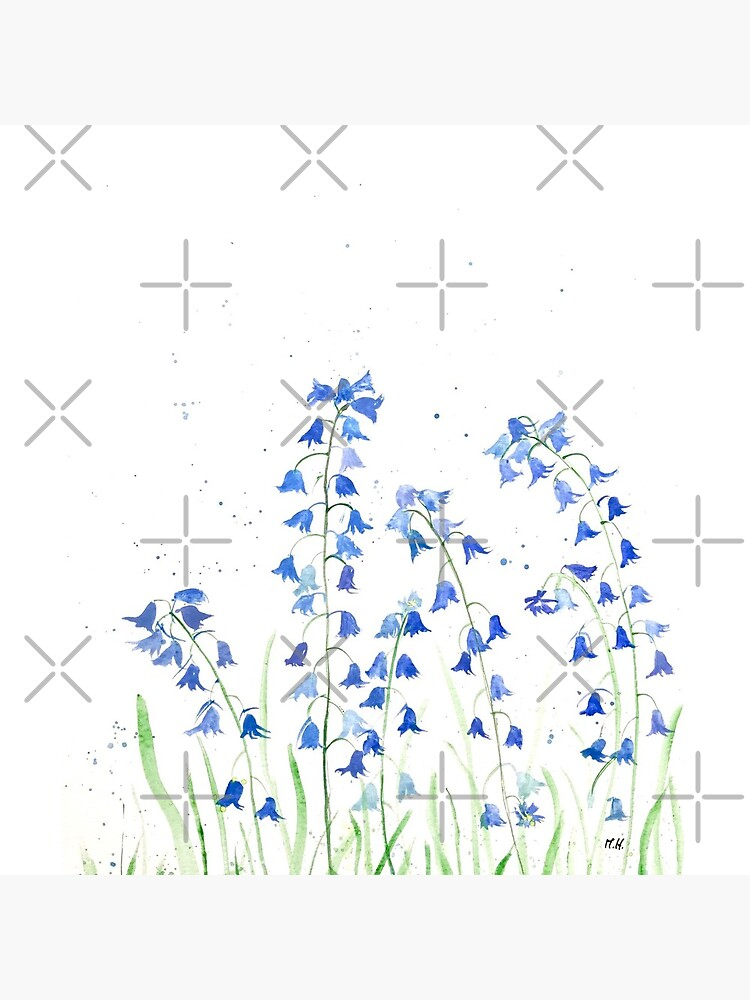 Bluebells flowers watercolours by cameronka1