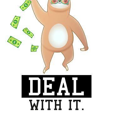 Sloth gives away dollar bills by treshabox