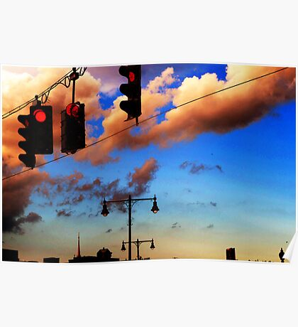 RED OVER CLOUDS Poster