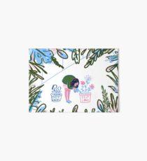 Self Care is Self Love - Botanical Garden Greenhouse Illustration Art Board