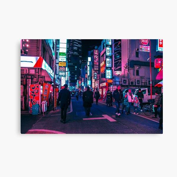 Take A Walk Under The Neon Canvas Print