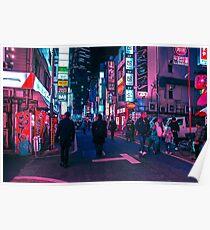 Machen Sie einen Spaziergang unter dem Neon Poster