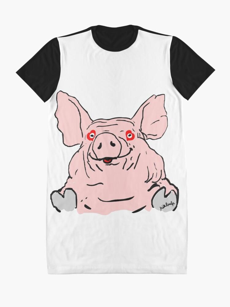 Alternate view of pig love Graphic T-Shirt Dress