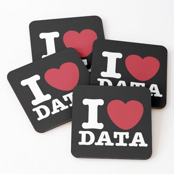 I Heart Data Coasters (Set of 4)