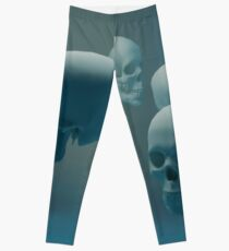 Dancing Blue Skulls Leggings