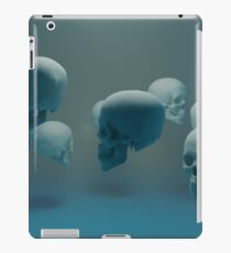 Dancing Blue Skulls iPad Case/Skin