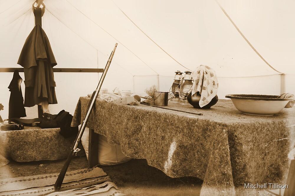 Union Officer's Tent, las Golondrinas Reenactment  by Mitchell Tillison