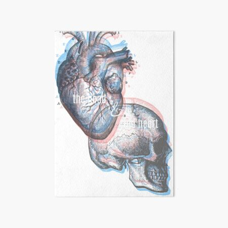 the head and the heart Art Board Print
