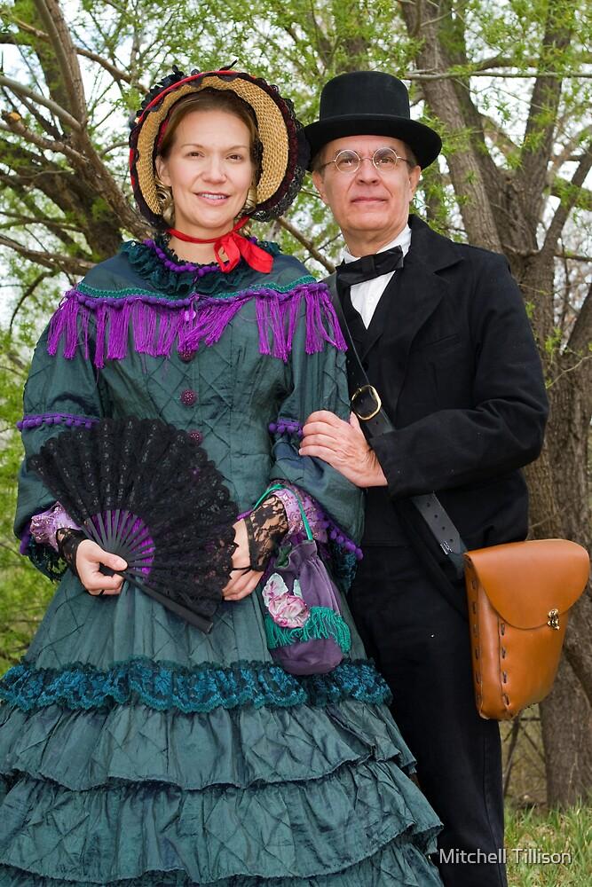 American Civil War Reenactors, Maiden and Photographer, El Rancho de las Golondrinas, Color by Mitchell Tillison