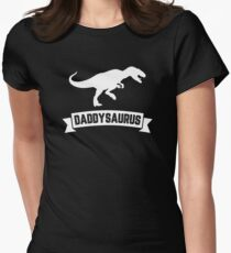 Daddysaurus Funny Father's Day Shirt Gift Women's Fitted T-Shirt