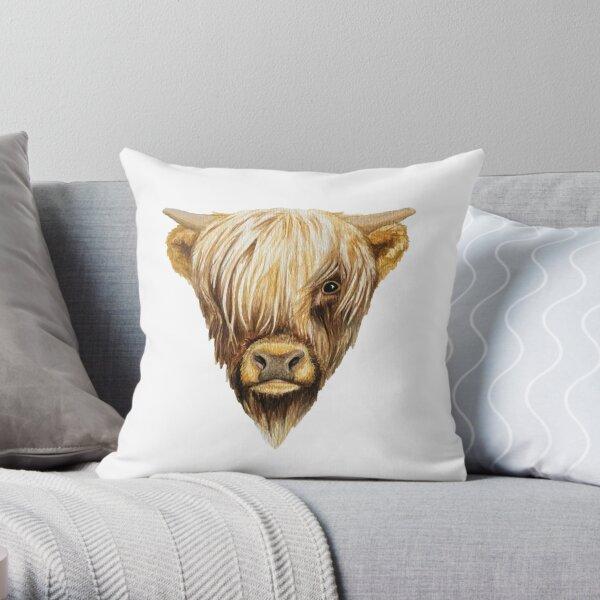 Highland Cow Throw Pillow
