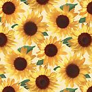 «Happy Yellow Sunflowers» de micklyn