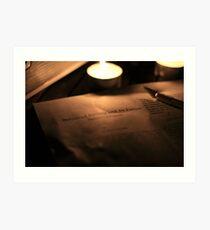 Evening light reading - Ted Kaczynski and Society Art Print