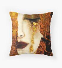 Klimt Golden Tears Throw Pillow