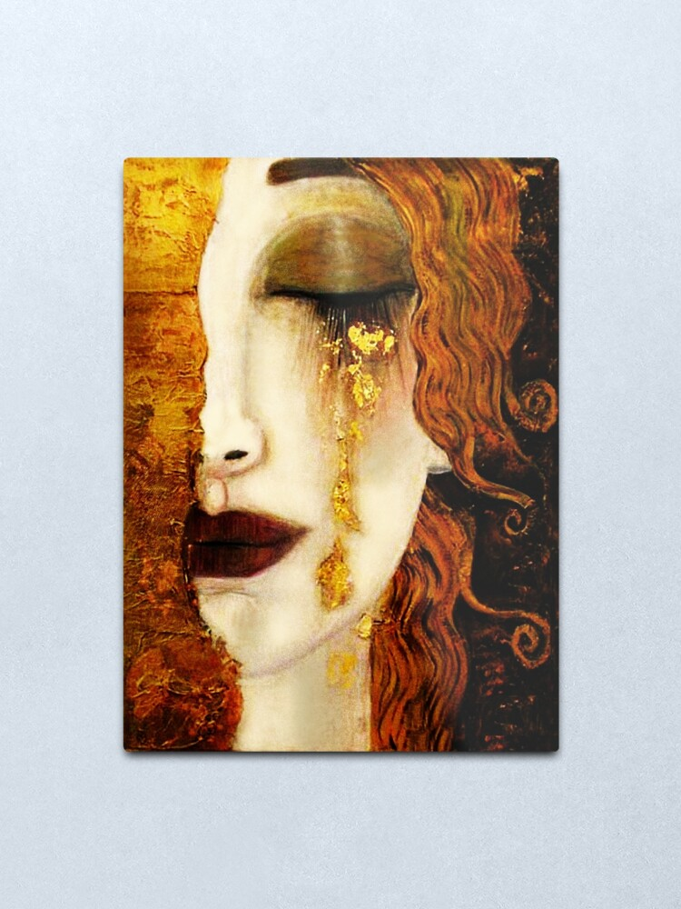 Alternate view of Klimt Golden Tears Metal Print