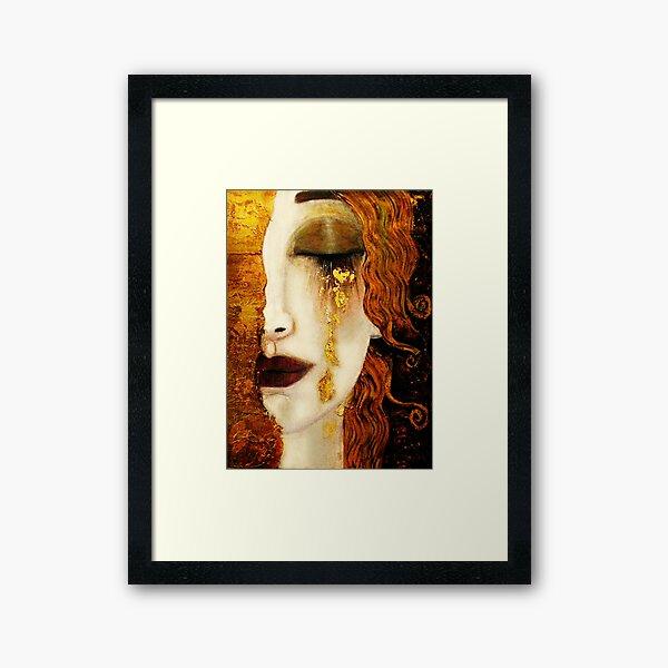 Klimt Golden Tears Framed Art Print